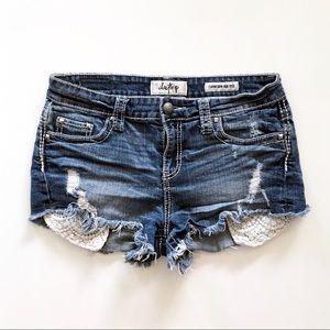 Daytrip Capricorn High Rise Jean Shorts Size 29